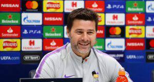 Mauricio Pochettino e Hugo Lloris in conferenza stampa alla viglia di Ajax-Tottenham