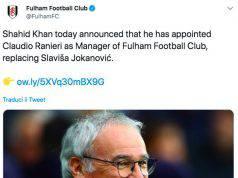 Il Fulham ha reso Ufficiale l'ingaggio del tecnico romano.