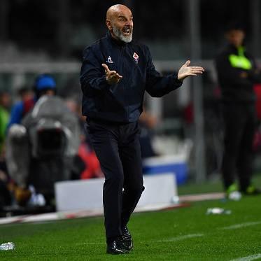 Stefano Pioli prima di Fiorentina Roma