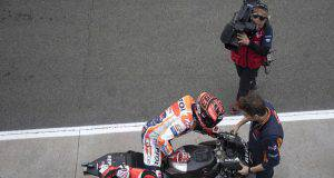 marc marquez motogp test valencia honda