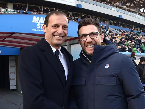 Le formazioni ufficiali di Juventus-Roma scelte da Allegri e Di Francesco