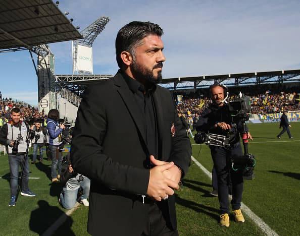 Gattuso parla dopo Frosinone-Milan