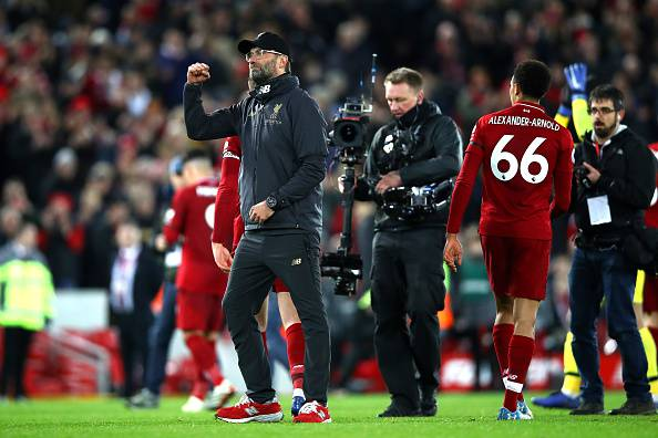 Liverpool di Klopp da record