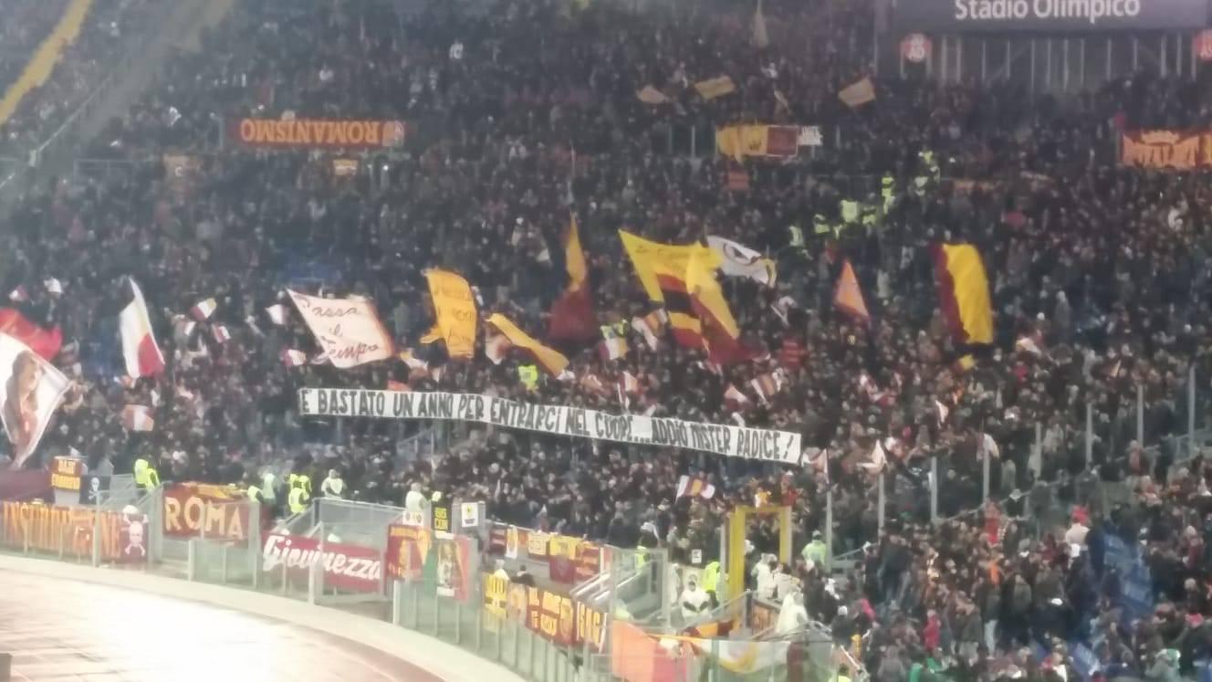 Roma-Genoa striscione Radice