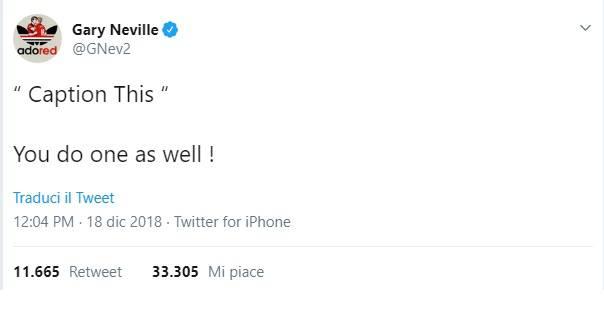 Il post di Gary Neville su esonero Mourinho