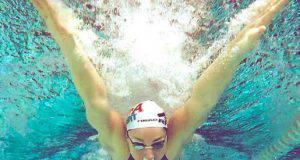 Ilaria Bianchi durante i Mondiali di Nuoto in Cina