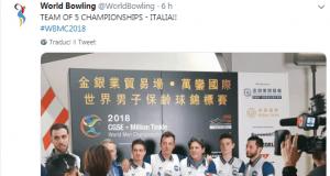 Mondiali Bowling - L'Italia vince la medaglia d'oro