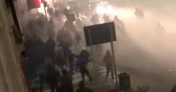 Scontri tra ultras laziali e Polizia