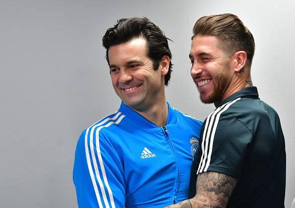 Solari e Ramos in conferenza stampa