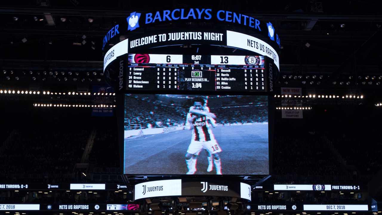 La Juventus Night alla Barclays Center, arena di gioco dei Brooklyn Nets, la squadra di Steve Nash
