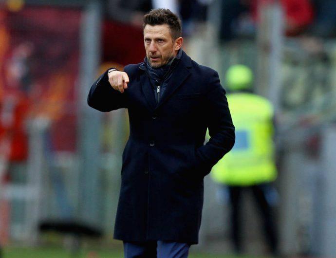 Di Francesco Roma sfida contro l'Atalanta