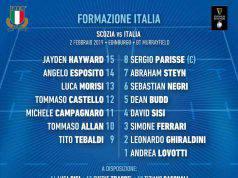 Formazione Italia del Rugby contro la Scozia