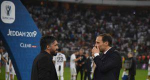 Gattuso e Allegri a fine gara