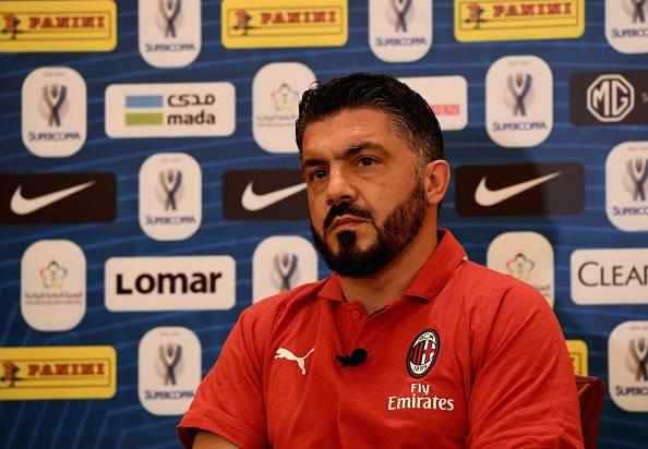 Gennaro Gattuso in conferenza stampa prima di Juventus-Milan