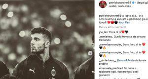 Patrick Cutrone su instagram incita i compagni e guarda avanti