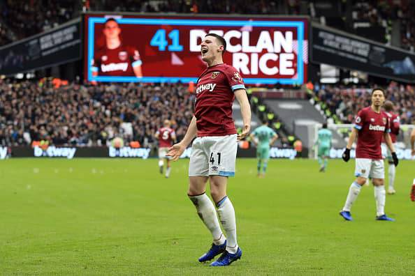 Rice decisivo in West Ham-Arsenal