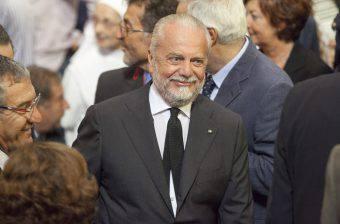Il presidente del Napoli Aurelio De Laurentiis