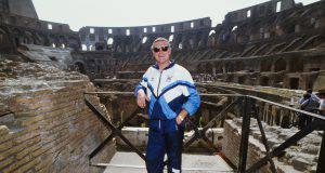 Gascoigne dentro al Colosseo