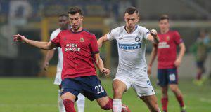 Il croato Perisic contro il Rapid Wien