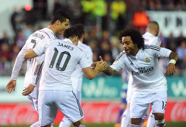Ronaldo - Rodriguez e Marcelo ai tempi del Real Madrid