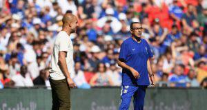 Sarri e Guardiola a Wembley