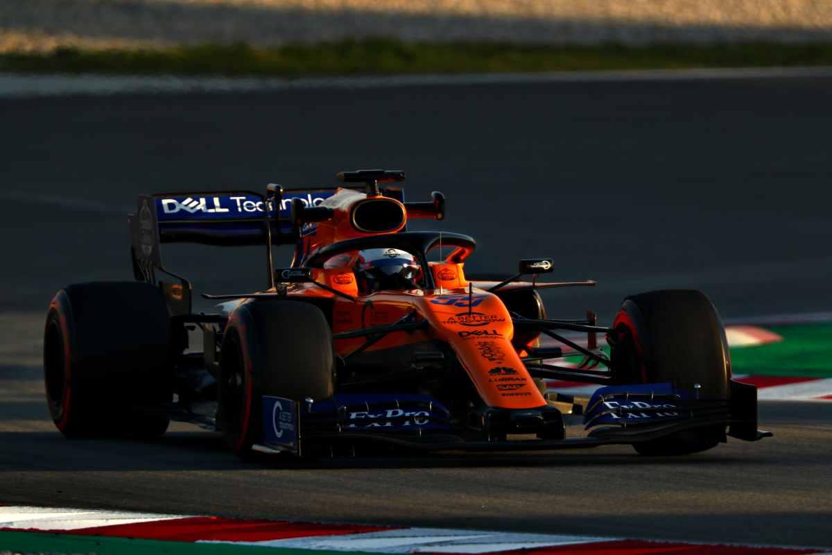 Carlos Sainz McLaren Formula 1 test Barcellona