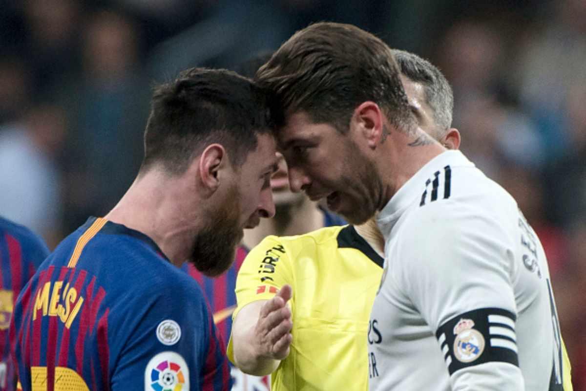 Scintille tra Messi e Ramos durante il Clasico