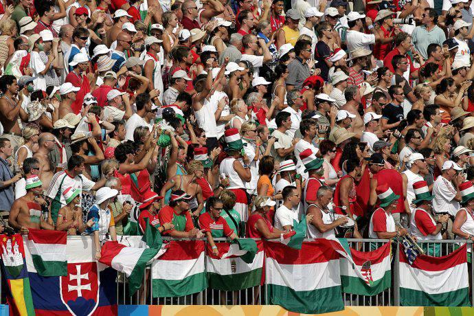 I sempre caldi tifosi ungheresi