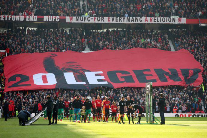 Splendida scenografia all'Old Trafford di Manchester