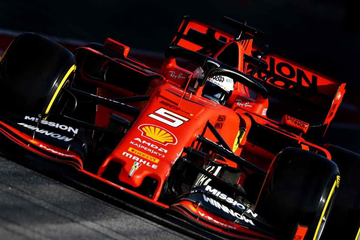 Vettel Sebastian Formula 1 test Barcellona
