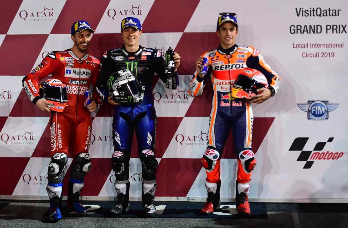 Vinales Dovizioso Marquez MotoGP 2019 Qatar