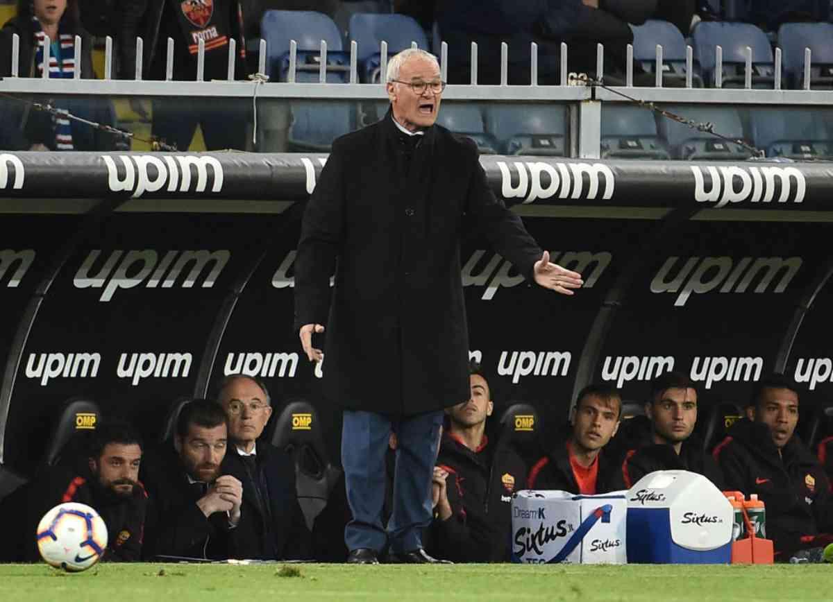 Claudio Ranieri Roma antivigilia Udinese