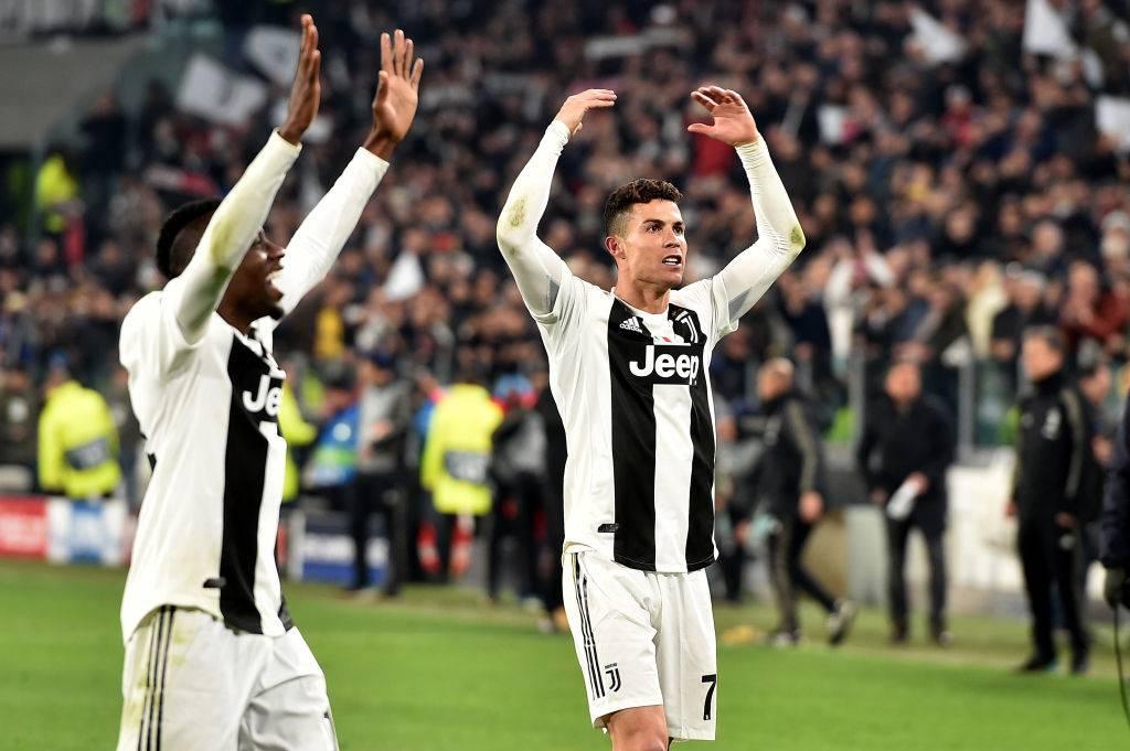 """Cristiano Ronaldo festa scudetto e annuncia """"resto al mille per cento"""""""