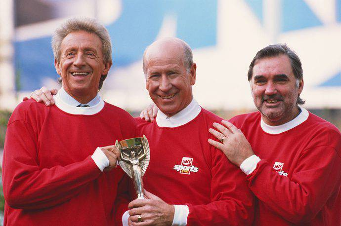 Denis Law, Bobby Charlton e George Best!