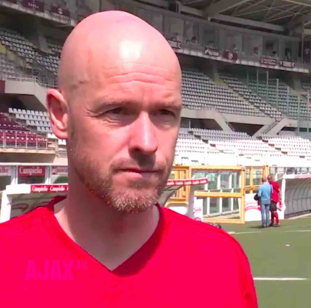 Erik ten Hag tecnico dell'Aiax ha parlato al canale ufficiale del club