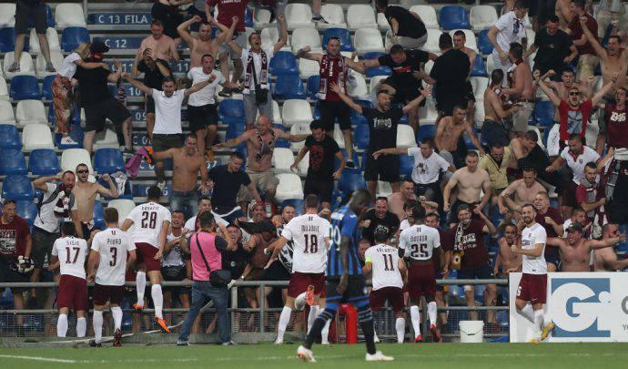 FK Sarajevo in festa a Reggio Emilia contro l'Atalanta in Europa League