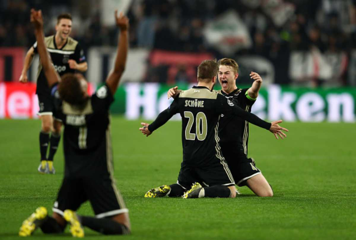 Juventus-Ajax de Ligt Ronaldo