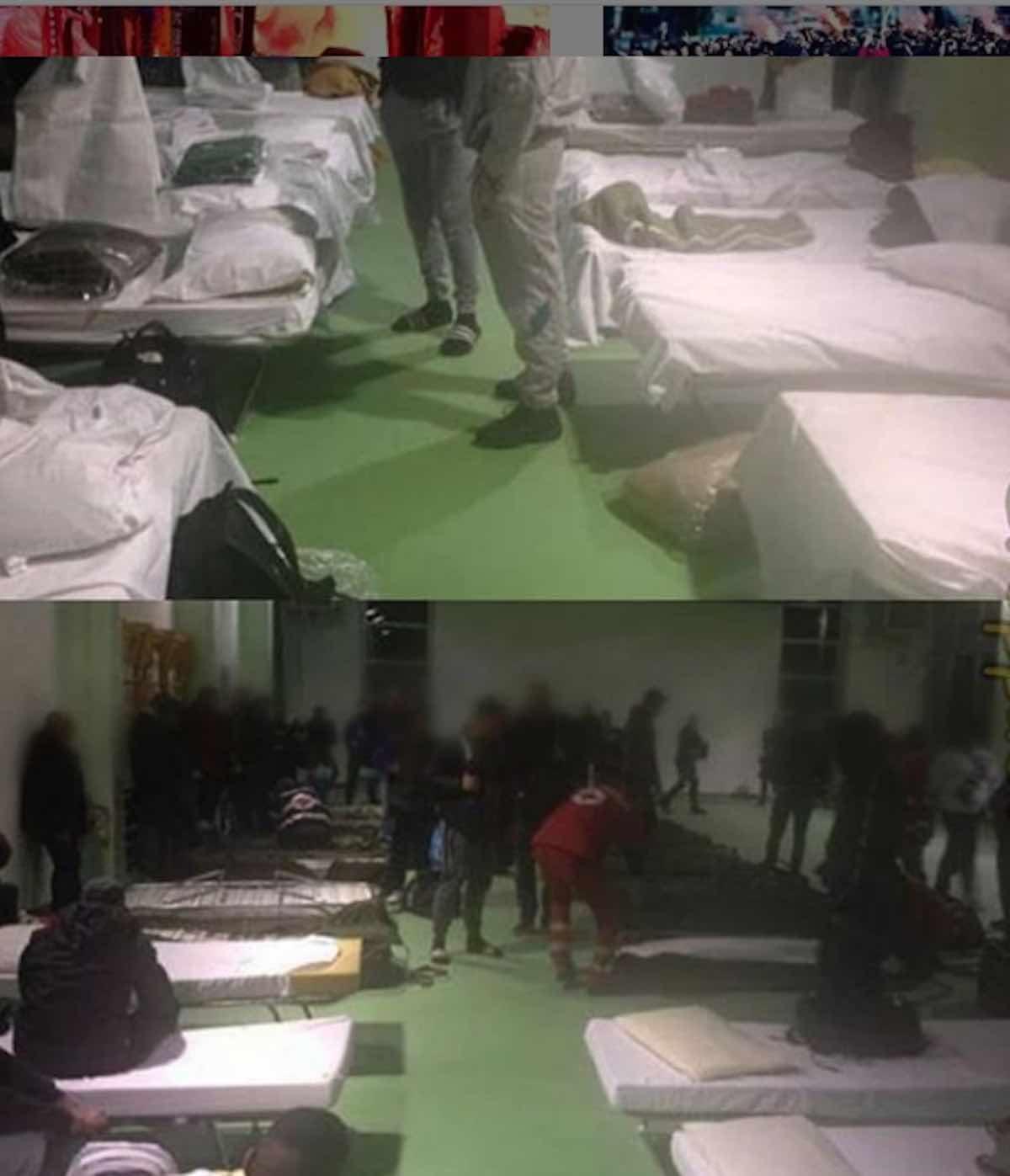 Hooligans dell'Ajax nel centro della protezione civile