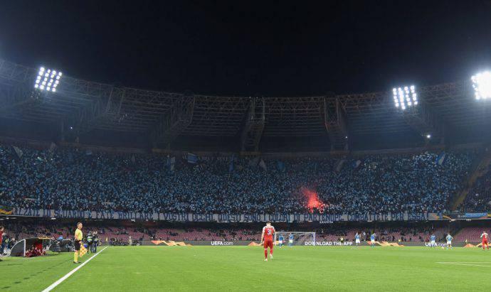 Il San Paolo era tutto azzurro contro i gunners