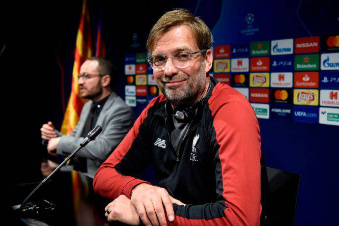 Klopp in sala stampa al Camp Nou