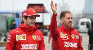 Leclerc Vettel Formula 1 Cina Ferrari