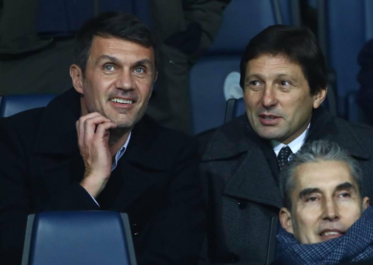 Leonardo dt Milan insieme a Paolo Maldini