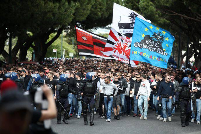 Lisbona si riempie di tifosi dell'Eintracht