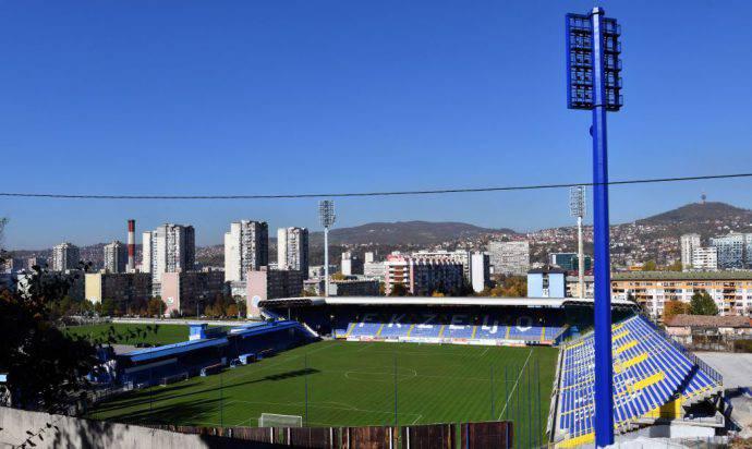 Lo stadio Grbavica di Sarajevo