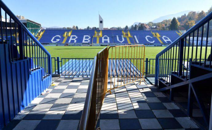 Lo stadio dello Zeljeznicar di Sarajevo