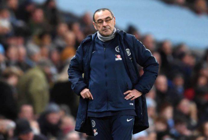 Maurizio Sarri criticato dai tifosi del Chelsea