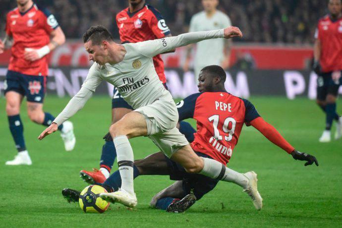 Pepe e Draxler in azione