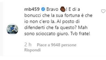 Post Balotelli contro Bonucci