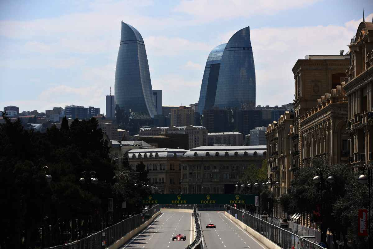 leclerc vettel ferrari Formula1 Azerbaigian Baku