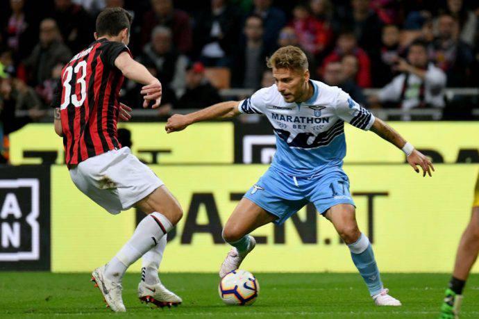 Caldara controlla Immobile in Coppa Italia